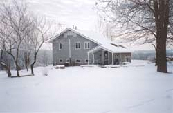 Denslow Brown's Homestead in the snow